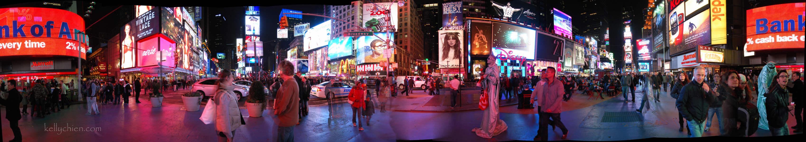 Panoramic Time Square